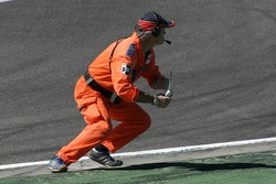 A course marshall at work