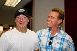 Jim Belushi and California Govenor Arnold Schwarzenegger