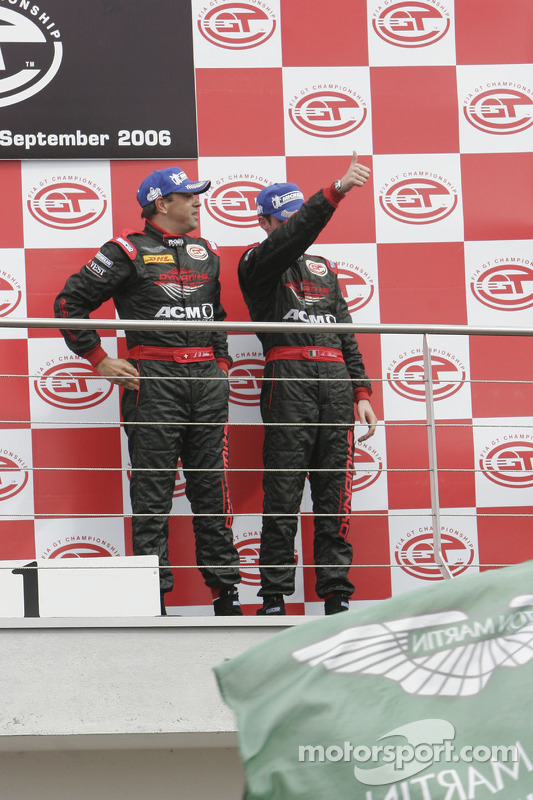 GT1 podium: third place Jean-Denis Deletraz and Andrea Piccini