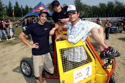 Scuderia Toro Rosso Apecar race: Neel Jani, Scott Speed and Vitantonio Liuzzi