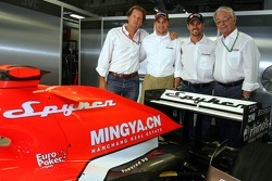 Spyker MF1 Racing press conference: Michiel Mol, Christijan Albers, Tiago Monteiro and Fred Mulder
