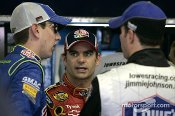 Kyle Busch, Jeff Gordon and Jimmie Johnson