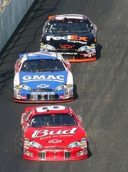 Dale Earnhardt Jr., Brian Vickers and Denny Hamlin