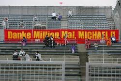 A Michael Schumacher fans banner