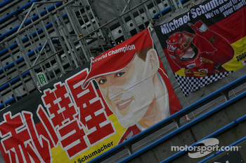 Michael Schumacher banner at the circuit