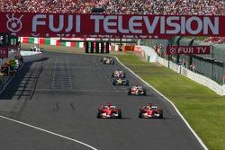 Michael Schumacher and Felipe Massa