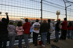 Fans watch the pre-race show