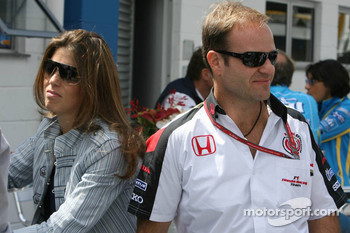 Rubens Barrichello and his wife Silvana