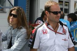 Rubens Barrichello and his wife Silvana
