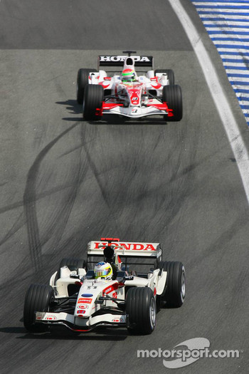 Rubens Barrichello and Sakon Yamamoto