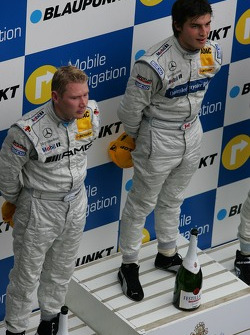 Podium: Bruno Spengler and Mika Hakkinen
