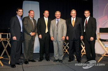 NASCAR Jeff Gordon, Ken Schrader, TV analyst Dr. Jerry Punch, Terry Labonte, car owner Rick Hendrick, and Bobby Labonte