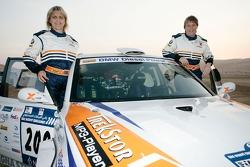 Jutta Kleinschmidt and Tina Thorner