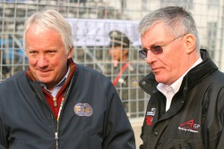 Charlie Whiting, FIA delegate and John Wickham, General Manager, Technical and Operations