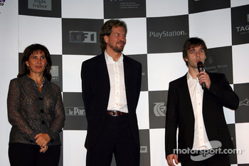 Press conference: Sbastien Loeb, Michle Mouton and Fredrik Johnsson on stage