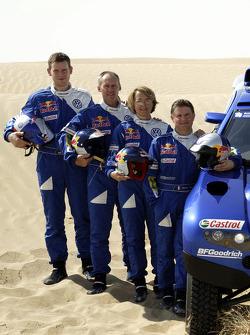 Volkswagen Motorsport presentation: co-drivers Dirk von Zitzewitz, Ralph Pitchford, Fabrizia Pons