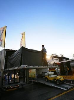 Corvette Racing paddock area