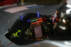 Steering wheel and control panel of the Audi Sport North America Audi R10 TDI Power
