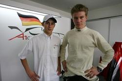 Marco Holzer and Nico Hulkenberg