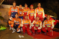 Team Repsol presentation in Barcelona: Team Repsol drivers and co-drivers