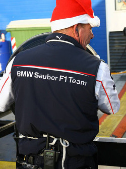 BMW Sauber F1 team members get into the festive spirit