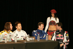 James Thompson, Andy Priaulx, Colin McRae and David Coulthard