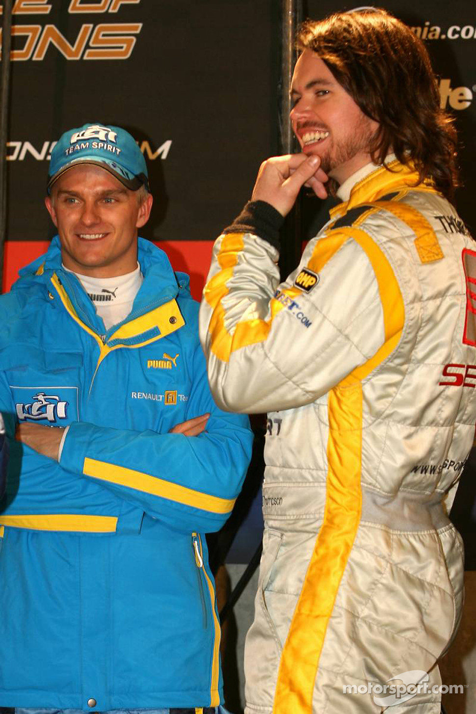 Heikki Kovalainen and James Thompson