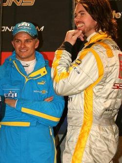 Heikki Kovalainen and James Thompson
