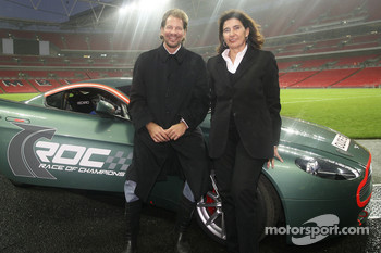 ROC Organisers Fredrik Johnsson and Michele Mouton at Wembley Stadium