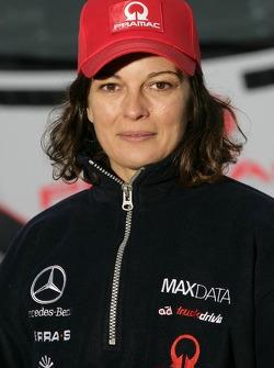 Team MAXDATA Mercedes-Benz presentation in the Unimog Museum in Gaggenau: Antonia de Roissard