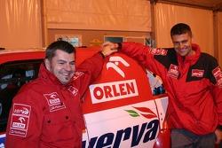 Jean-Marc Fortin and Krzysztof Holowczyc