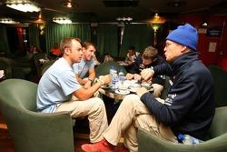 Giniel de Villiers, Mark Miller, Dirk von Zitzewitz and Ari Vatanen