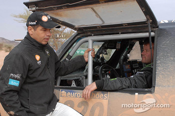 Carlos Sousa and Robby Gordon