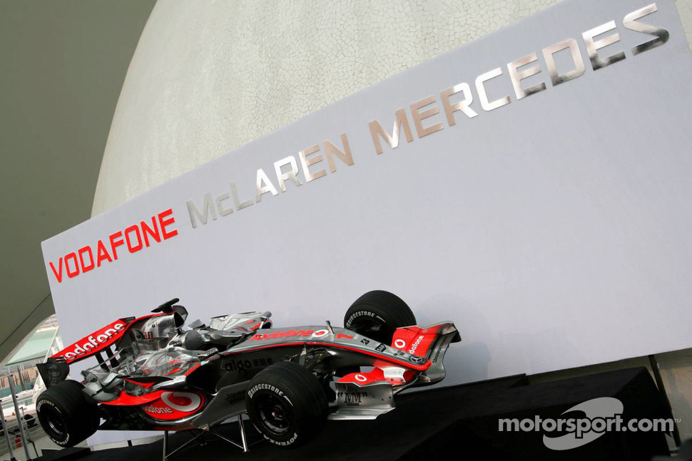 The new McLaren Mercedes MP4-22