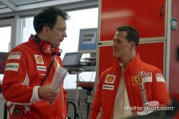 Nikolas Tombazis and Michael Schumacher