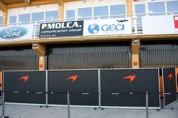 McLaren Mercedes garage area