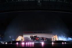Gary Paffett, Fernando Alonso, Lewis Hamilton and Pedro de la Rosa