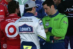 Scott Dixon, Jimmie Johnson and Max Papis