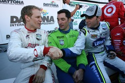 Jorg Bergmeister, Max Papis and Jimmie Johnson