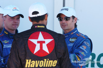 DP Podium: Juan Pablo Montoya, Jeff Gordon, Jan Magnussen