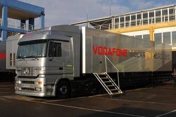 Truck of  McLaren Mercedes