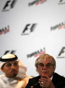Bernie Ecclestone during the press conference to announce the brand new Formula One Grand Prix in Abu Dhabi for 2009