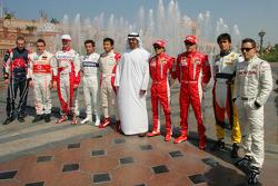 Scott Speed, Fernando Alonso, Ralf Schumacher, Timo Glock, Sakon Yamamoto, Sheikh Mohammed bin Zayed al Nahayan, Felipe Massa, Kimi Raikkonen, Nelson A. Piquet and Christian Klien