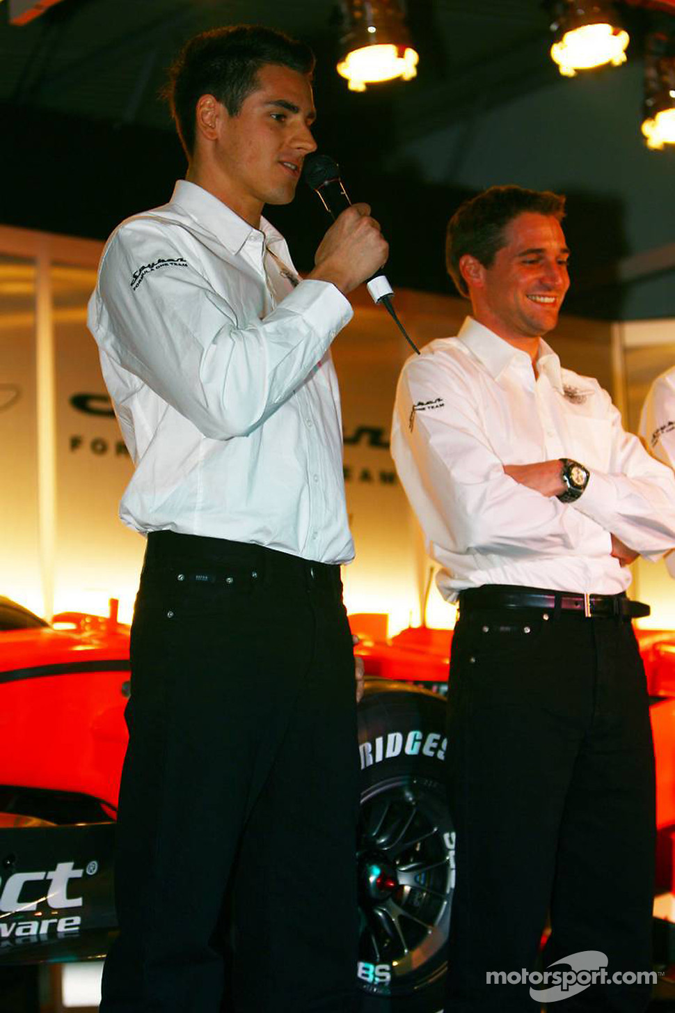 Adrian Sutil and Christijan Albers