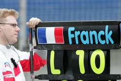 Franck Montagny pit board