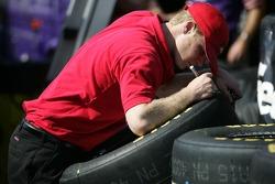 Jim Beam Ford crew member at work