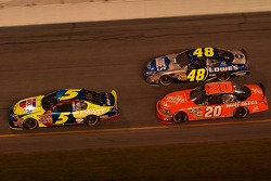 Kyle Busch, Jimmie Johnson, Tony Stewart