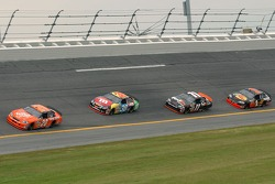 Tony Stewart leads the first Gatorade Duel at Daytona