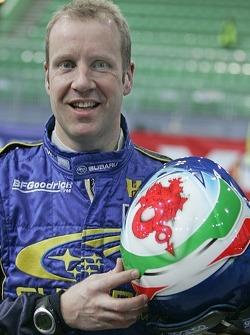 Phil Mills with his helmet