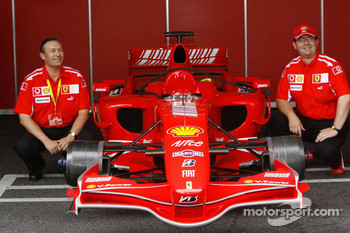 Ferrari fans with the Ferrari F1 car